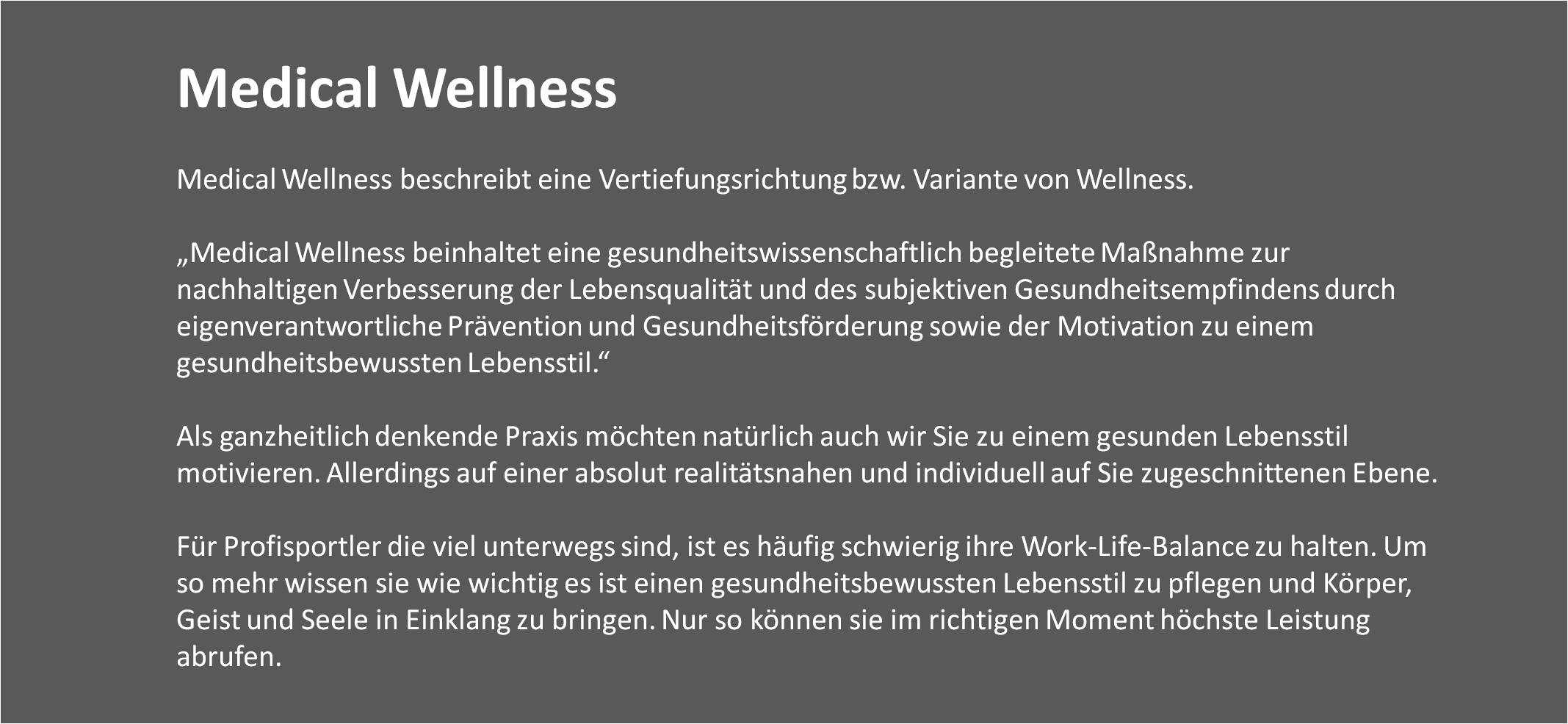 Medical Wellness